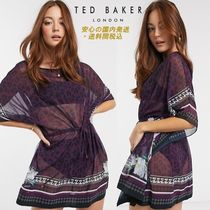 Ted Baker wilderness tie waist cover up in pink♪