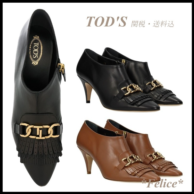 *TOD'S トッズ*Double T Fringe Ankle Boots 関税/送料込 (TOD'S/ショートブーツ・ブーティ) 51517951