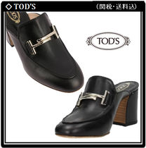 【TOD'S】Double-T レザー ミュール 関税・送料込