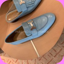 【HERMES】Mocassins ParisモカシンパリBleu Dorset