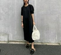 """""""COS"""" DRESS WITH PUFF SLEEVES BLACK"""