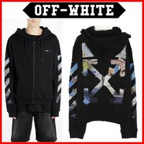 Off-White_19SS アローフードジップアップ OMBE001R190030121088