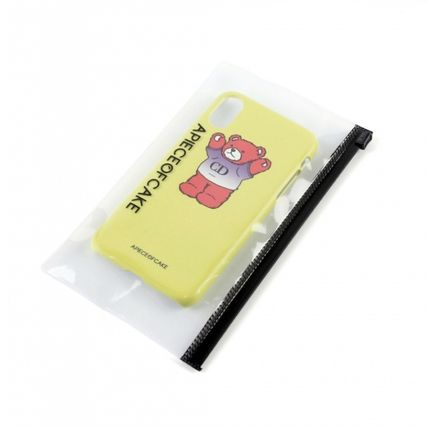A PIECE OF CAKE スマホケース・テックアクセサリー ★A PIECE OF CAKE★ CD Bear Phone Case ハードケース /Lime