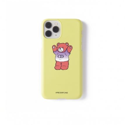 A PIECE OF CAKE スマホケース・テックアクセサリー ★A PIECE OF CAKE★ CD Bear Phone Case ハードケース /Lime(2)
