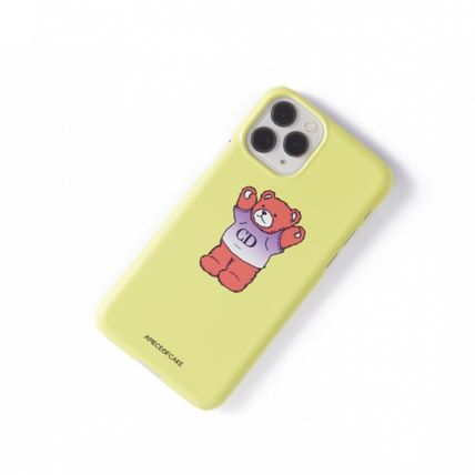 A PIECE OF CAKE スマホケース・テックアクセサリー ★A PIECE OF CAKE★ CD Bear Phone Case ハードケース /Lime(3)