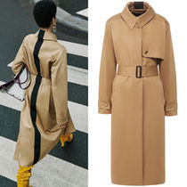 G618 LOOK1 COTTON GABARDINE TRENCH COAT