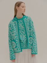 [ EENK ] LEELEE Pattern Printed Knitted Cardigan (Mint)