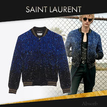 【20SS NEW】 Saint Laurent_men / テディジャケット / BLUE