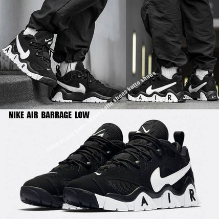 Nike スニーカー NIKE★AIR BARRAGE LOW★ロゴ★レトロ★BLACK/WHITE