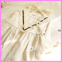 【ArimCloset】natural beige lace point baby cotton dress
