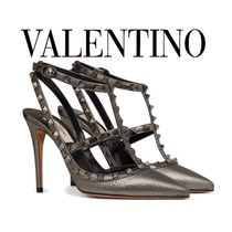 ヴァレンティノ◆ROCKSTUD DECOLLETE LAMINATED CALFSKIN 100MM