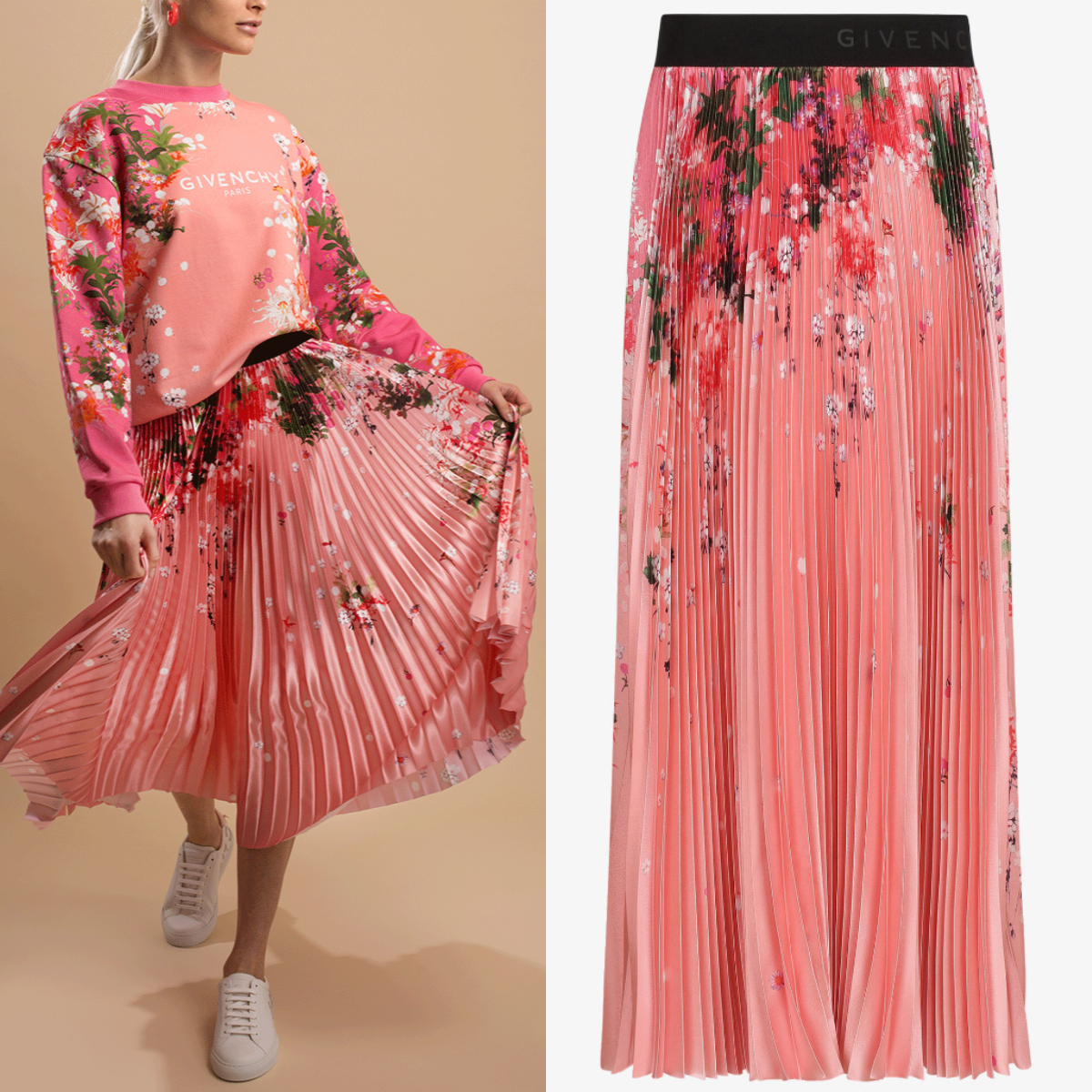 G632 FLORAL PRINT PLEATED SKIRT (GIVENCHY/スカート) BW40D412NA-651