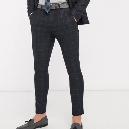 ASOS スーツ ASOS Selected Homme skinny fit stretch suit パンツ check(2)