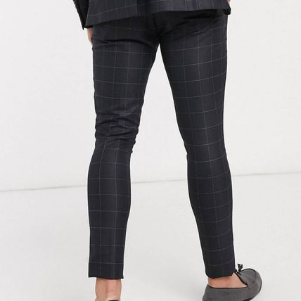 ASOS スーツ ASOS Selected Homme skinny fit stretch suit パンツ check(3)