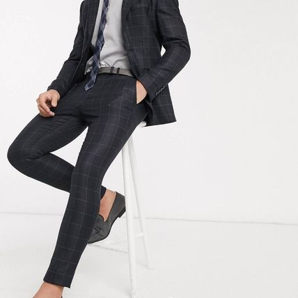 ASOS スーツ ASOS Selected Homme skinny fit stretch suit パンツ check(5)