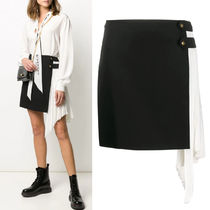G638 WOOL MINI SKIRT WITH PLEATED GODET
