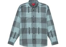 Supreme Logo Plaid Shirt 20SS WEEK1