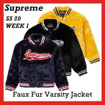 SUPREME Faux Fur Varsity Jacket SS 20 WEEK 1 ジャケット