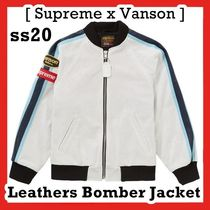 Supreme Vanson Leathers Perforated Bomber Jacket SS20 WEEK 1