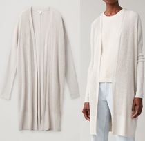 """COS"" RIBBED COTTON-MIX CARDIGAN BEIGE"