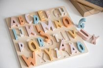 Sebra☆Swedish Alphabet Wooden Puzzle Cotton Candy Pink ♪