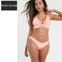 NEW!◆River Island◆レースアップ ビキニセット/coral