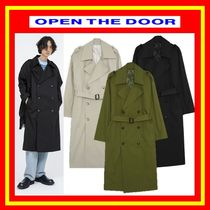 [OPEN THE DOOR] wearable double trench coat◆全3色◆男女兼用