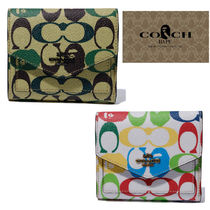 国内発送 A BATHING APE × COACH  FLAP WALLET