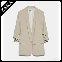 ★ZARA★ BLAZER WITH TURN-UP SLEEVES