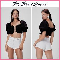 For Love & Lemons(フォーラブアンドレモン) トップスその他 2020Cruise新作! ☆For Love & Lemons*  Sage Lace Up Crop Top