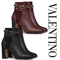 ヴァレンティノ◆ROCKSTUD GRAINY CALFSKIN ANKLE BOOT 90 MM◆