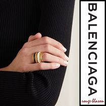 【国内発送】Balenciaga リング Gold-tone and enamel ring
