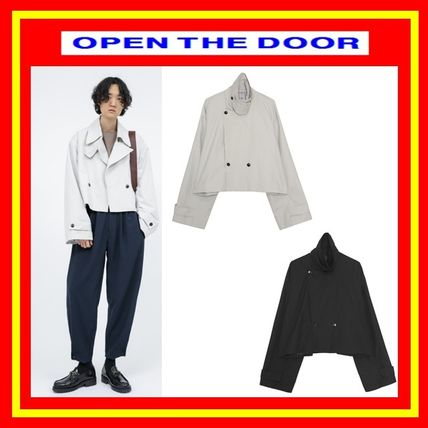 [OPEN THE DOOR]  over crop trench coat ◆全2色◆追跡付