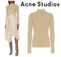 関税・送料込 Acne Studios☆High-neck ribbed cotton-blend top