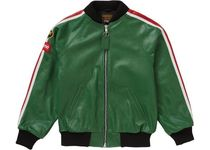 Supreme × Vanson Leathers / Perforated Bomber Jacket Green