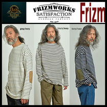 [Frizmworks]Patch stripe boat neck Tshirts★日本未入荷★3色