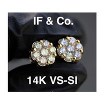 ◆海外限定◆ IF & CO. NANO DAX DIAMOND CLUSTER EARRINGS 14k