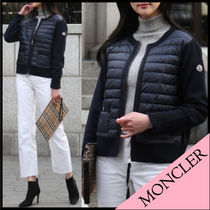 【MONCLER】20SS 異素材MIX ジップアップブルゾン NAVY/EMS直送