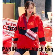 【STRETCH ANGELS】5色 PANINI color block bag ショルダー
