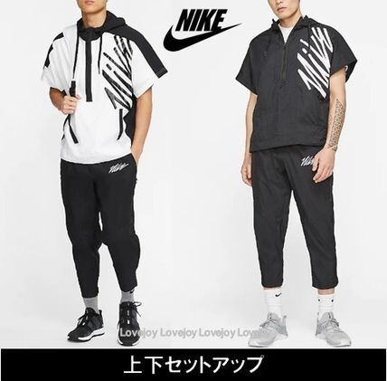 Nike セットアップ Nike ☆ SHORT-SLEEVE HALF-ZIP TRAINING フーディ&パンツ