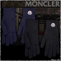 【19AW NEW】MONCLER_/ GUANTI ロゴウールグローブ / 2カラー