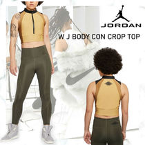 NEW!JORDAN W J BODY CON CROP TOP CLUB GOLD/BEIGE/BLACK/CYBER