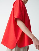 """COS"" OVERSIZED POPLIN SHIRT RED"