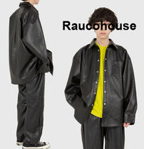 Raucohouse LEATHER BOX FIT SHIRTS