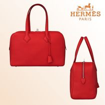 2020SS★新作☆エルメス Victoria II tote 35 ☆Red Heart☆