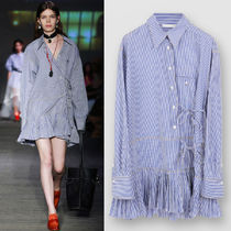 C523 LOOK36 TIE DETAIL SHIRT DRESS