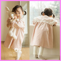 【ArimCloset】lovely lace kara light pink baby cotton dress