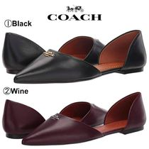 【COACH】●大変お買い得●大人気●Leather Pointy Toe Flat