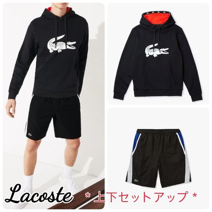 LACOSTE セットアップ 【Lacoste】 ワニプリントパーカー&ハーフパンツセットアップ