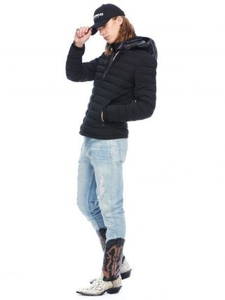 MOOSE KNUCKLES ジャケットその他 [MOOSE KNUCKLES]異素材フードがアクセント★POINT RIDER JACKET(3)